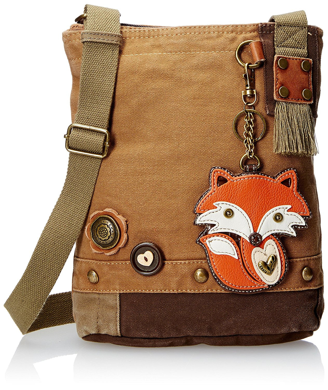 Chala Handbag Canvas Crossbody Messenger Bags - FOX