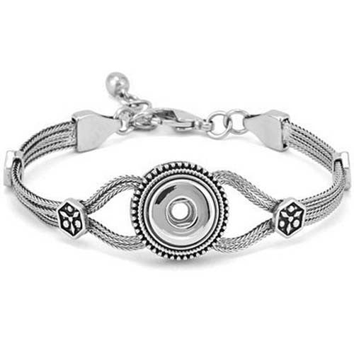 Petite Ginger Snaps PETITE 1 SNAP HERITAGE BRACELET Interchangeable Jewelry Snap Accessory