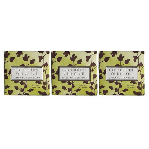 French Milled CUCUMBER OLIVE OIL Shea Butter Bar Bath Soap