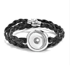 Ginger Snaps BRAIDED LEATHER WRAP BRACELET