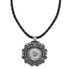 Ginger Snaps Floral & Leather Necklace SN92-35