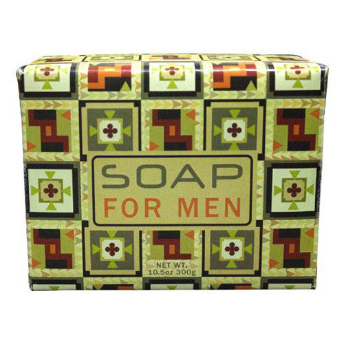 Greenwich Bay Trading Co. 10.5oz (300g) Exfoliating Soap Bar for Men with a Masculine Musky Scent