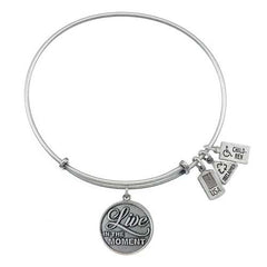 Live in the Moment Charm Bangle
