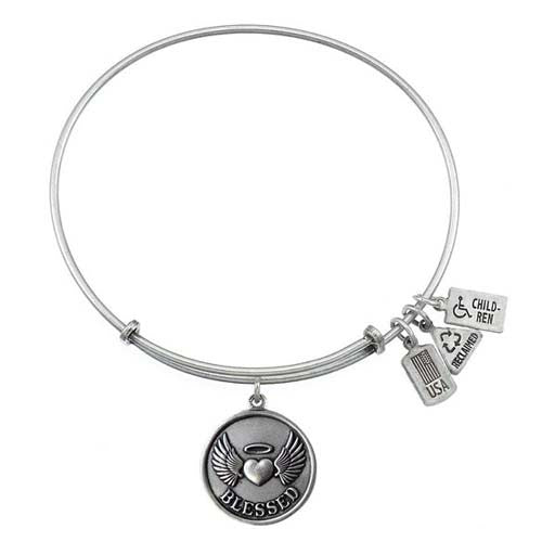 Wind and Fire Blessed Charm Bangle Bracelet