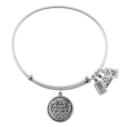 Wind and Fire Granddaughter Charm Bangle Bracelet