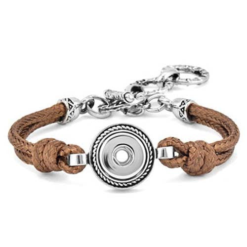 Ginger Snaps Petite One-Snap Brown Knot Bracelet GP90-04 Jewelry