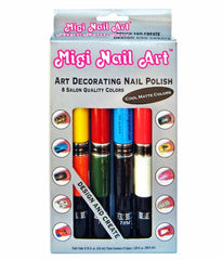 Migi Nail Art Pens 8 Cool Matte Colors