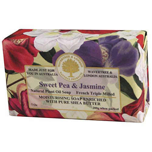 Australian Soapworks Wavertree & London 200g Soap - Sweet Pea & Jasmine