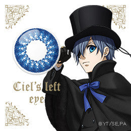 Image 1 for Kuroshitsuji Ciel Phantomhive Left Eye 1 Day Cosplay Color Lens (10x)