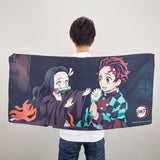Demon Slayer - Tanjiro vs Rui - Bath Towel (Bandai) [Shop Exclusive] - 2