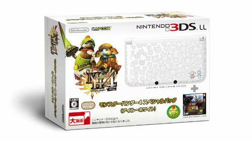 Image 1 for Nintendo 3DS LL [Monster Hunter 4 Special Pack] (Airu White)