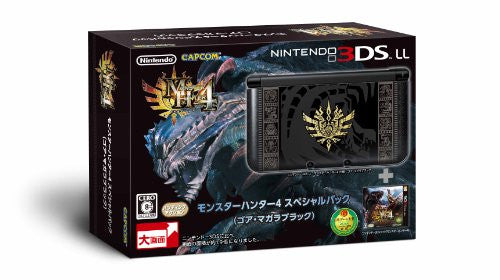 Image 1 for Nintendo 3DS LL [Monster Hunter 4 Special Pack] (Goa Magara Black)