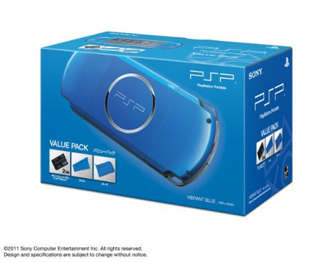 Image for PSP PlayStation Portable Slim & Lite - Vibrant Blue Value Pack (PSPJ-30024)