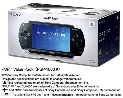 PSP PlayStation Portable Value Pack (PSP-1000K)