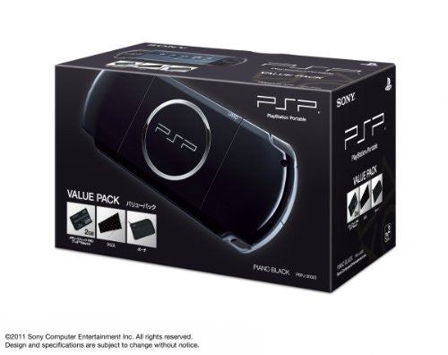 Image 1 for PSP PlayStation Portable Slim & Lite - Piano Black Value Pack (PSPJ-30023)