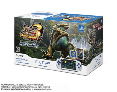 Monster Hunter Portable 3rd Special Model - White/Blue  (PSP-3000 Bundle)