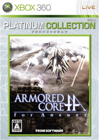 Image for Armored Core: For Answer (Platinum Collection)