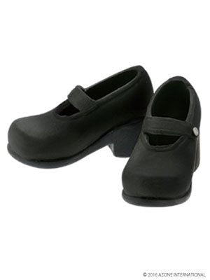 Doll Clothes - Pureneemo Original Costume - PureNeemo XS Size Costume - Soft Vinyl Strap Shoes - 1/6 - Black (Azone)