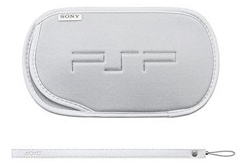 Image 1 for PSP PlayStation Portable Soft case and hand strap (white)