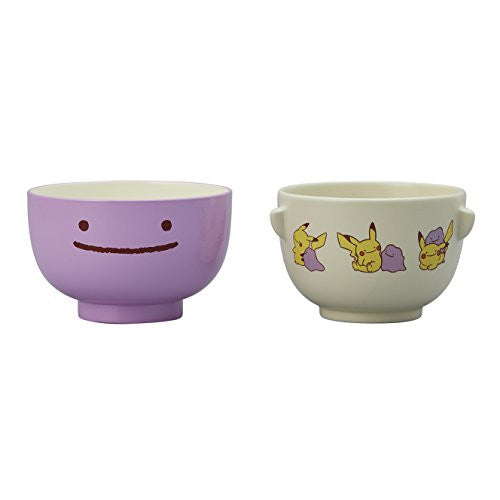 Image 1 for Pokemon - Pocket Monsters - Pokemon Center - Metamon Pikachu - Soup Bowl + Rice Bowl Set