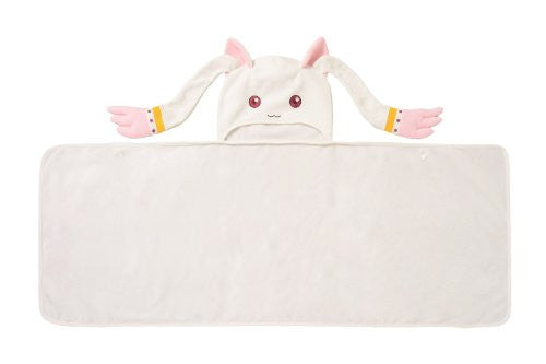 Image 2 for Puella Magi Madoka Magica Kyuubee Narikiri Fleece Blanket Book W/Extra