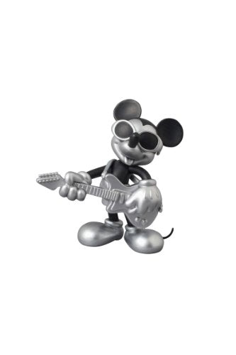 Image 1 for Mickey Mouse - Ultra Detail Figure - Roen Collection - 164 - Black and Silver ver. Grunge Rock ver. (Medicom Toy)