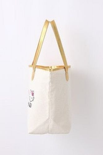 Image 3 for Sanrio Hello Kitty 35th Anniversary Book W/Gold Logo Tote Bag