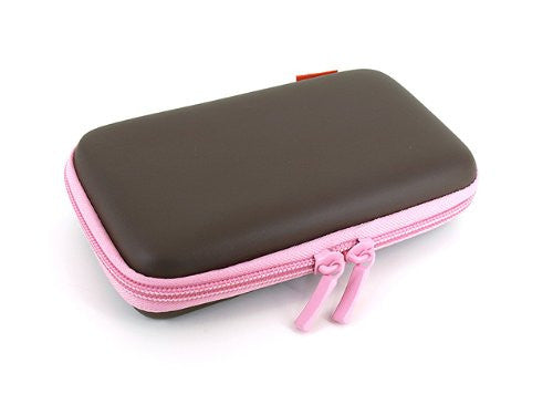 Image 3 for Palette Semi Hard Pouch for 3DS (Chocolate Pink)
