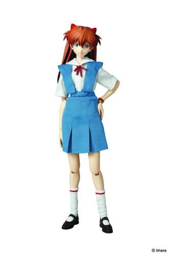 Image 1 for Shin Seiki Evangelion - Souryuu Asuka Langley - Real Action Heroes #502 - 1/6 - Uniform Version (Medicom Toy)