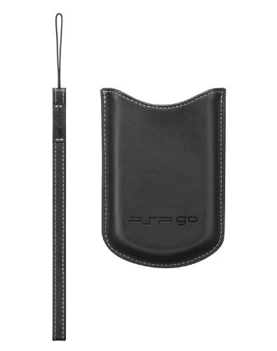 PSP PlayStation Go Leather Pouch & Strap (Black)
