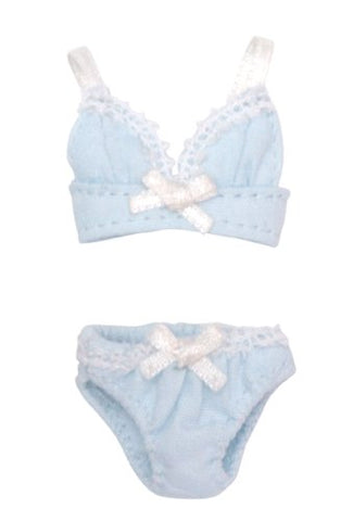 Doll Clothes - Picconeemo Costume - Ribbon Brassiere & Shorts Set - 1/12 - Light Blue (Azone)
