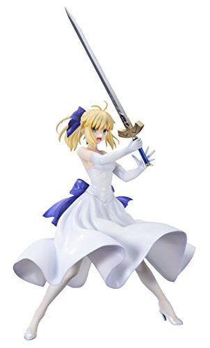 Image 1 for Fate/Stay Night Unlimited Blade Works - Saber - 1/8 - Shiro Dress Ver. (Bell Fine)