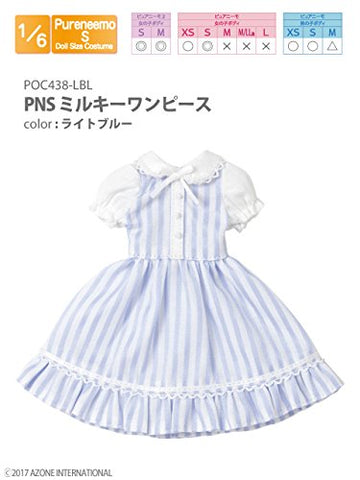 Doll Clothes - Pureneemo Original Costume - PureNeemo S Size Costume - Milky One-piece Dress - 1/6 - Light Blue (Azone)