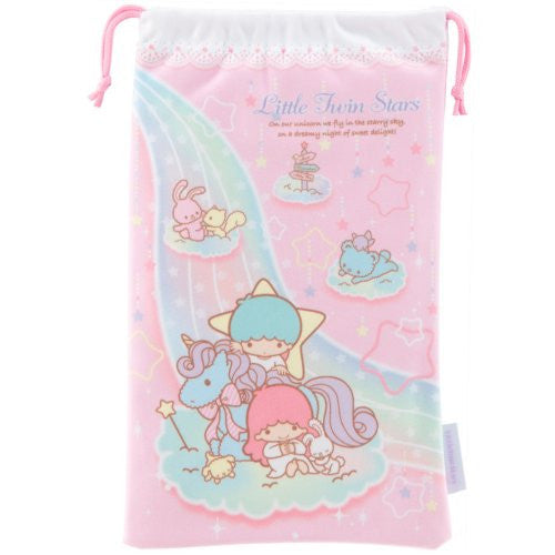 Image 4 for Little Twin Stars Pouch for 3DS LL (Pink)