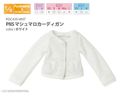 Doll Clothes - Pureneemo Original Costume - PureNeemo S Size Costume - Marshmallow Cardigan - 1/6 - White (Azone)