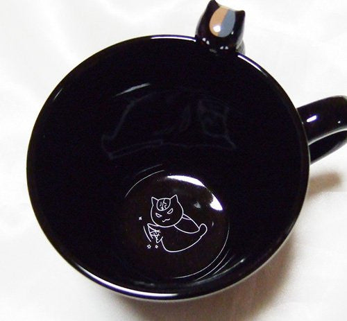 Image 3 for Natsume Yuujinchou - Riou (Black Nyanko) - Mug B (Movic)
