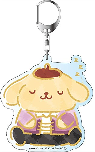 Yuri!!! on Ice x Sanrio Characters - Deka Key Chain - Stamp Rally Ver. - Pom Pom Purin