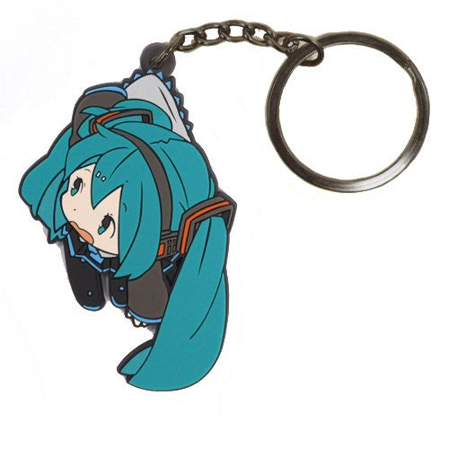 Image 1 for Vocaloid - Hatsune Miku - Tsumamare - Rubber Keychain - Keyholder (Cospa)