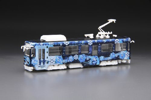 Image 1 for Vocaloid - Hatsune Miku - Model Train - Snow Miku Train 2012 - 1/150 - Sapporo City Transportation Bureau Type 3300 (Fujimi)
