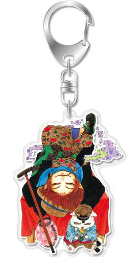 Image 1 for Hoozuki no Reitetsu - Koban - Gon - Hoozuki no Reitetsu Acrylic Keychain Tankobon Cover Collection - Keyholder (empty)