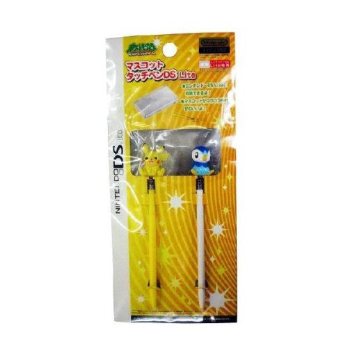 Image 1 for Mascot Touch Pen DS Lite (08 Summer Pikachu & Pochama)
