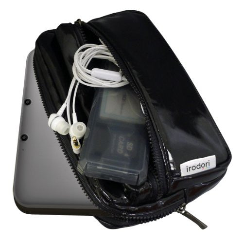 Image 3 for Enamel Pouch for 3DS LL (Strong Black)