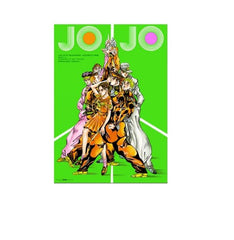 Diamond Is Not Crash - Jojo no Kimyou na Bouken - Higashikata Josuke - Joseph Joestar - Kuujou Joutarou - Hirose Koichi - Kishibe Rohan - Yamagishi Yukako - Nijimura Okuyasu - Poster (Shueisha)