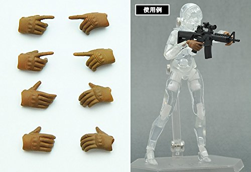 Image 2 for Figma - Little Armory #OP01 - Tactical Glove - 1/12 - Coyote Tan (Tomytec)