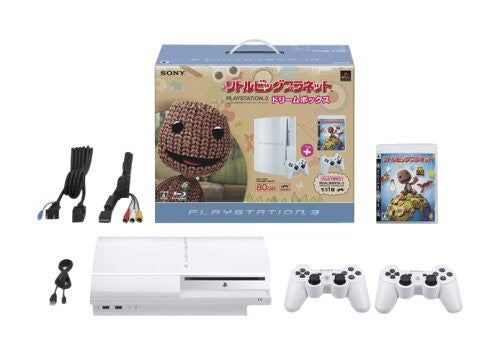 Image 1 for PlayStation3 Console (HDD 80GB LittleBigPlanet Dream Box) - Ceramic White
