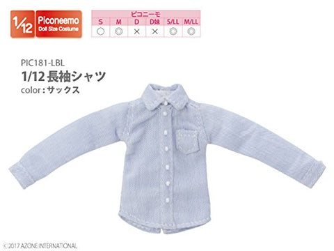 Doll Clothes - Picconeemo Costume - Long Sleeve Shirt - 1/12 - Sax (Azone)