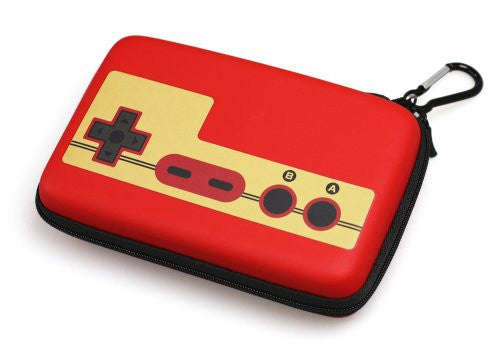 Image 2 for Retro Face Pouch for 3DS LL (Famicom Red)
