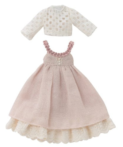 Doll Clothes - Picconeemo Costume - Lace Cut and Sewn & Natural Jumper Dress Set - 1/12 - Pink (Azone)