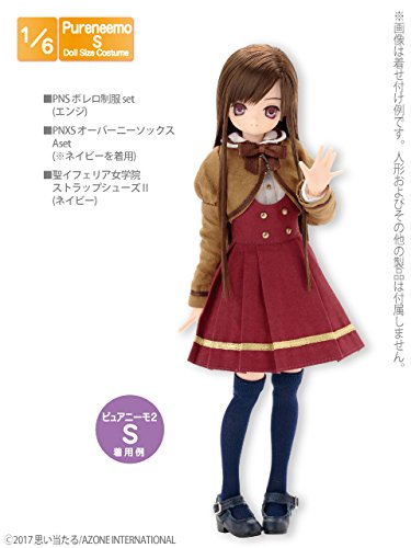 Doll Clothes - Pureneemo Original Costume - PureNeemo S Size Costume - Bolero School Uniform Set - 1/6 - Deep Red (Azone)