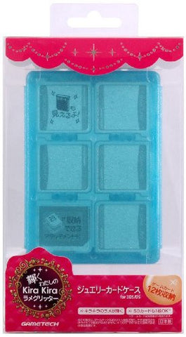 Image for Jewel Card Case (Blue Glitter)